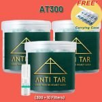 ANTI TAR™ AT300 Cigarette Filters Tar Trap Holder Disposable - Bundle 3 Boxes *Most Popular*