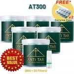 ANTI TAR™ AT300 Cigarette Filters Tar Trap Holder Disposable - Bundle 6 Boxes **Best Value**