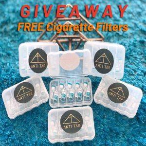 free cigarette filter sample kit