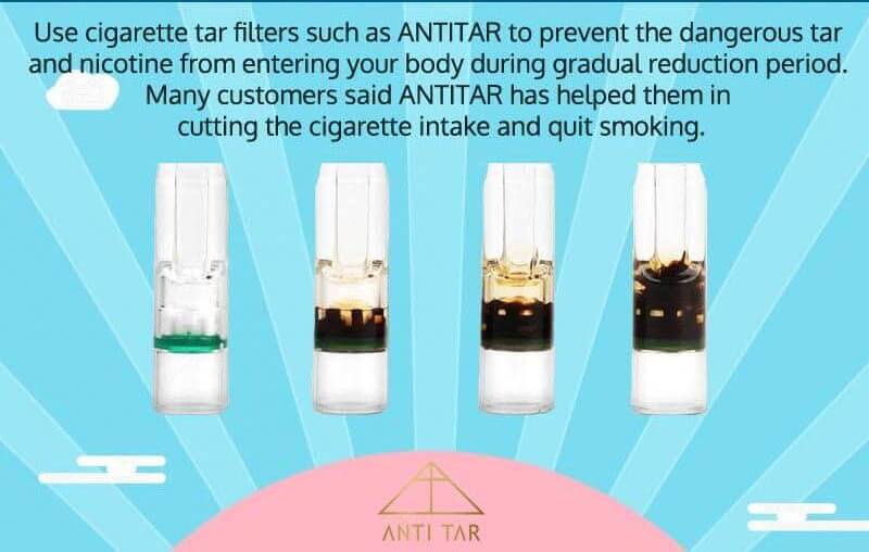 use antitar cigarette tar filter to help quit smoking